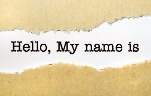 Hello, my name is, name tag