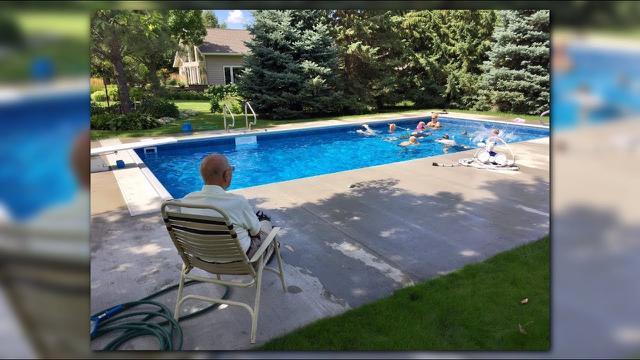 Keith Davison backyard pool