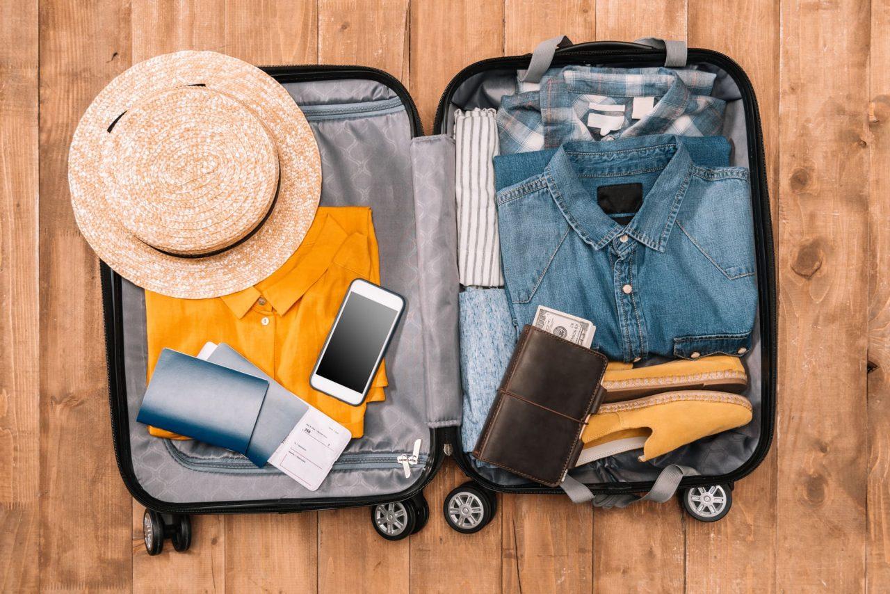 Luggage phone passport