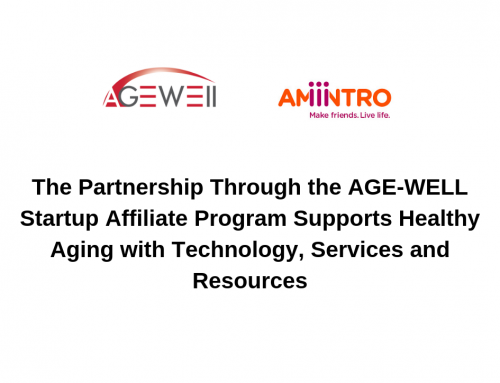 Amintro Partners with Canada's Technology and Aging Network AGE-WELL to Enhance the Lives of Adults 50+